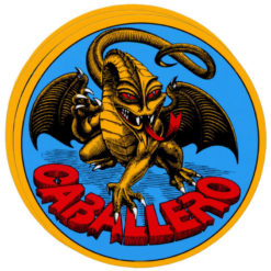 Powell Peralta Skateboard Sticker Caballero Dragon 9cm